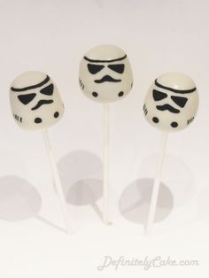 Storm Troopers Cake Pops