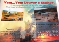 Turismo em São Gonçalo do Rio Abaixo: Vem... Vem Louvar o Senhor, Comunidade Terapêutica...