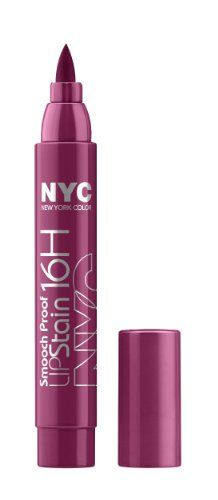 25% Off was $4.50, now is $3.38! New York Color Smooch Proof Lip Stain, Forever Mine Wine, 0.1 Fluid Ounce + Free Shipping