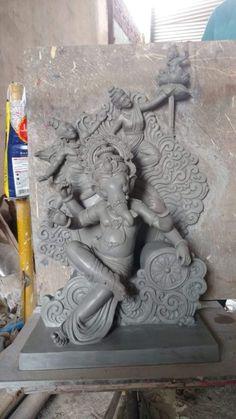 Ganesh Statue, Shri Ganesh, Ganesha Art, Durga Ji, Saraswati Goddess, National Flag India, Ganesh Design, Ganesh Idol, Lord Ganesha Paintings