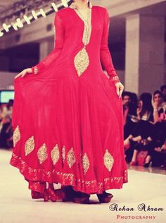 Long Pakistani designer frock