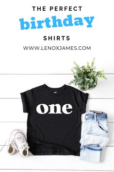 THE BEST birthday tees for the little in your life. This is the perfect shirt to complete your little one's first birthday or cake smash photo session! Find the Best Kids Birthday Shirts for all ages at LENOX JAMES! First Birthday Shirts, Second Birthday Shirts, Third Birthday Shirts, Fourth Birthday Shirts, Fifth Birthday Shirts! 1st Birthday Shirt Boy| First Birthday Shirt Boy | First Birthday Shirt | First Birthday Outfit Boy | Wild One Shirt Boys First Birthday Shirt, Girls 3rd Birthday, Boys 1st Birthday Party Ideas, First Birthday Themes, Birthday Gifts For Boys, First Birthday Outfits, Fourth Birthday, Happy Birthday, Shirts For Girls