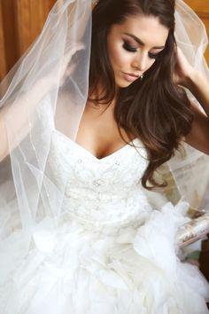 "Marissa Powell Bridal Beauty: Airbrush Makeup #houseoflashes ""Noir Fairy"" lashes."