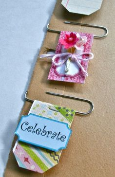 embellishments then simply slide onto your card, layout, tag or altered album. The vintage ledger paper clip below is a fun idea if you want to add some journaling. I simply adhered the ledger paper to cardstock to make it firm for the paperclip. Scrapbooking Diy, Scrapbook Cards, Scrapbook Layouts, To Do Planner, Happy Planner, Paperclip Crafts, Paper Clip Art, Paper Clips Diy, Candy Cards