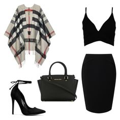 """Night out"" by og-zharia on Polyvore featuring Burberry, Jacques Vert, Boohoo and MICHAEL Michael Kors"
