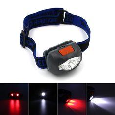 Camping Jagd Kopflampe TORCH Angeln Outdoor Rot Weiße LED Beleuchtung Kopflamp