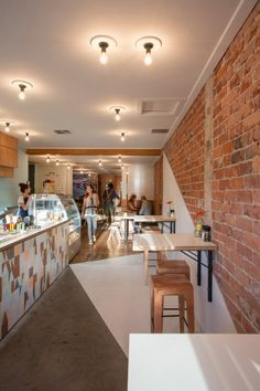 brick and plaster walls in cafes - Google Search