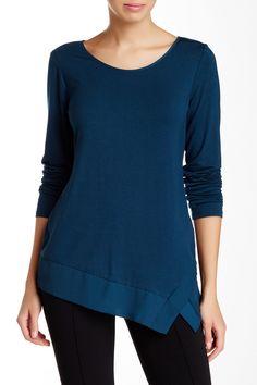 Asymmetrical Hem Long Sleeve Blouse by Laundry By Shelli Segal on @nordstrom_rack