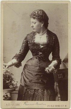 historysquee:  Princess Beatrice of Battenberg, daughter of Queen Victoria By Alexander Bassano Albumen cabinet card, mid 1880s