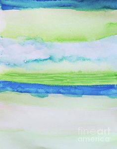 End Of Summer by Andrea Anderegg #blue #green #art #abstract #painting $wallart…