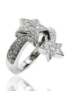 Chanel Comete 18k White Gold Diamond Ring