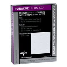 Puracol Plus AG is made of pure native collagen and helps provide an ideal environment for wound healing. May be used under compression or with infected wounds. Skin Grafting, Wound Dressing, Wound Care, Aleta, Wound Healing, Natural Healing, Collagen, Health And Beauty