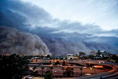 """I guess reality doesn't always look much different from Hollywood.""  Arizona dust storm  July '11"