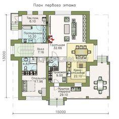 """🏠 """"Республика"""" - современный двухэтажный комфортабельный дом: цены, планировка, фото. Купить готовый проект Destiny, House Plans, Floor Plans, How To Plan, House Floor Plans, Home Plans, Floor Plan Drawing"""