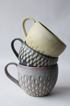 Gorgeous Pottery Mugs Faceted Design
