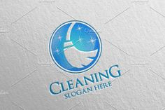 Cleaning Service Vector Logo Design by denayunebgt on @Graphicsauthor