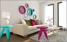 oturma odası / ayna / renkler