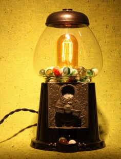 Bubble Gum Machine Lamp.