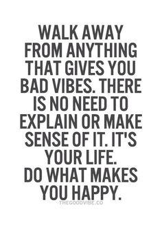 Bad vibes...