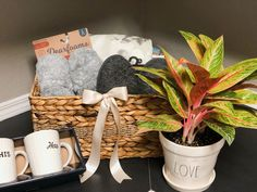 Cozy House, Home Gifts, Gift Baskets, House Warming, Gift Wrapping, Bag, Plants, Ideas, Home Decor