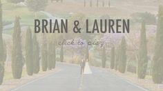 Brian + Lauren = A Wedding Film.  www.sweettstudios.com