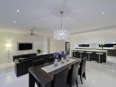 Black dining room idea from a real Australian home - Dining Room photo 265092
