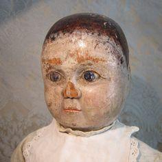 Enigmatic Wooden Doll - English Folk Art - Mid-Nineteenth Century
