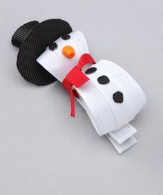 Snowman hair clip @Tiffany Cottam