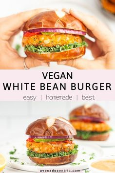 This homemade vegan white bean burger recipe is healthy, satisfying, hearty, and also so easy to make! In addition, it's gluten free, customizable, and is simply the best! Store-bought veggie burgers can be expensive. These homemade vegan burgers are so quick to make and perfect for BBQs and summer picnics just like my black bean quinoa burger. You can customize and make them spicy. Also loaded with protein and made from pantry staples. #veganburger #veggieburger Vegan Dinner Recipes, Beef Recipes, Vegetarian Recipes, Healthy Recipes, Vegetarian Barbecue, Hamburger Recipes, Vegetarian Cooking, Soup Recipes, Picnic Recipes