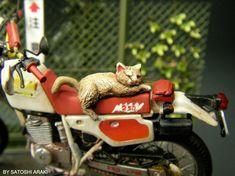 The Amazing Miniature World of Satoshi Araki Honda, Miniatures, Motorcycle, The Incredibles, Bike, World, Amazing, Artist, Inspiration