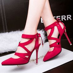 Thin Style Fashion's new new # High # Heels Hollow Out Women Belt Lacing # Pumps  http://www.clubwholesale.net/
