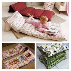 This is an easy way to make a cool, cheap and portable bed using pillow cases.The great thing with this pillow bed is that it is easy to store and wash. Just remove the pillows from their cases and place the cover in the washing machine, fold and place in your linen cupboard until its
