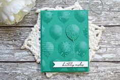 Welcome to Day 4 of Papertrey Ink's January release countdown. Today's featured products are: Birthday Balloons stamps and die, Birthday Strings, Birthday Balloons Stencils, and Never Enough. All of the new products will be available at 10 pm ET January 15 in the Papertrey Ink store.