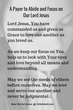 Lord Jesus, You have commanded us and