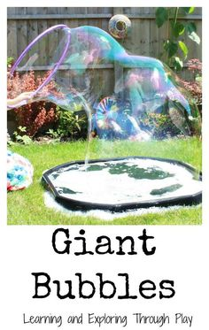 Bubbles Recipe Learning and Exploring Through Play: Giant Bubbles Recipe. Outdoor fun activities for kids.Learning and Exploring Through Play: Giant Bubbles Recipe. Outdoor fun activities for kids. Outside Activities, Outdoor Activities For Kids, Outdoor Learning, Kids Outdoor Crafts, Outdoor Activities For Toddlers, Kids Learning, Fun Summer Activities, Children Activities, Summer Games