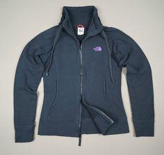 THE NORTH FACE Ladies Black Jacket Coat Size S Warm Fleece Original Hologram