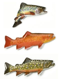 Brook Trout Hand Painted Pewter Pin by sculptor George G. Harris
