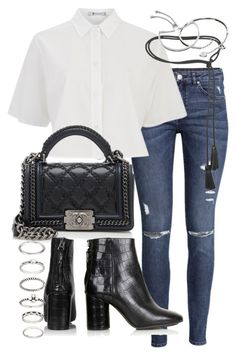 """Untitled #18870"" by florencia95 ❤ liked on Polyvore featuring H&M, T By Alexander Wang, Chanel, Tom Ford, Topshop, Forever 21, Cartier, Monica Vinader and popofluxury"
