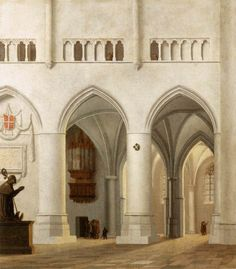 Pieter Jansz Saenredam (Dutch, 1597-1665 Interior of the Sint-Bavokerk at Haarlem 1630 Oil on wood, 41 x 37 cm Musée du Louvre, Paris