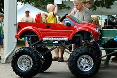 your typical little red wagon yess.my baby boy will have this.my baby boy will have this. Power Wheels Truck, Custom Power Wheels, Kids Power Wheels, Kids Wagon, Toy Wagon, Little Red Wagon, Drift Trike, Kids Ride On, Pedal Cars