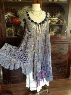 Luv Lucy crochet dress Cripple Creek Dress by LuvLucyArtToWear, $250.00