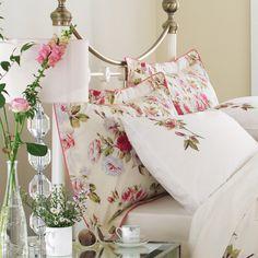 Sanderson Bed Linen  Sanderson Eglantine Housewife Pillowcase, Pink
