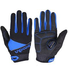 Ezyoutdoor Full Finger Breathable Riding Gloves with Shockabsorbing Gel Silicone Pad for Cycling Bicycle Riding Skiing Blue L * Check out the image by visiting the link.(This is an Amazon affiliate link and I receive a commission for the sales)