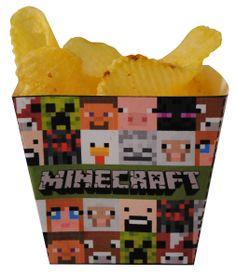 Minecraft chips bakjes... http://printpret.nl/Minecraft%20feestpakket