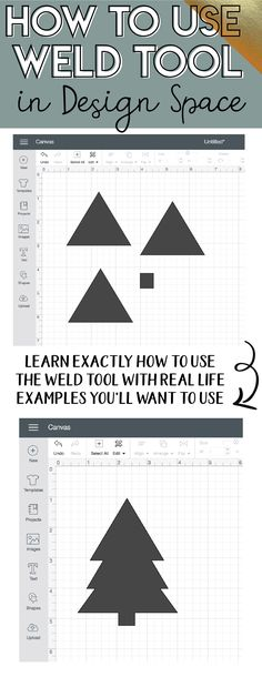 Finally! I actually understand how to use the weld tool in actual examples of DIY projects. I always found it so confusing but this tutorial shows you step by step and is easy to follow - must watch! #cricut #howto