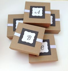 Gift boxes  Etsy listing at https://www.etsy.com/listing/154510027/gift-box-kraft-gift-box-personalized