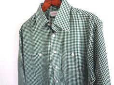 SAKS FIFTH AVENUE Vintage Men Shirt Green by GnarlyNutmeggers