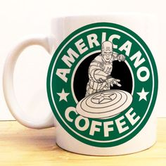 Captain America Americano Coffee Mug | Avengers Civil War Starbucks | Disney Marvel