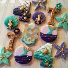 Mermaid cookies for Tiwas 4th birthday party