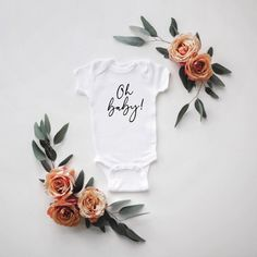 Baby Announcement Discover Oh Baby Pregnancy Announcement Bodysuit Baby Reveal Maternity Photos Baby Shower Gift Daddy to Be New Grandparents Pregnancy Photos, Baby Photos, Baby Pregnancy, Maternity Photos, Pregnancy Weeks, Symptoms Pregnancy, Pregnancy Acne, Pregnancy Calendar, Maternity Photo Props